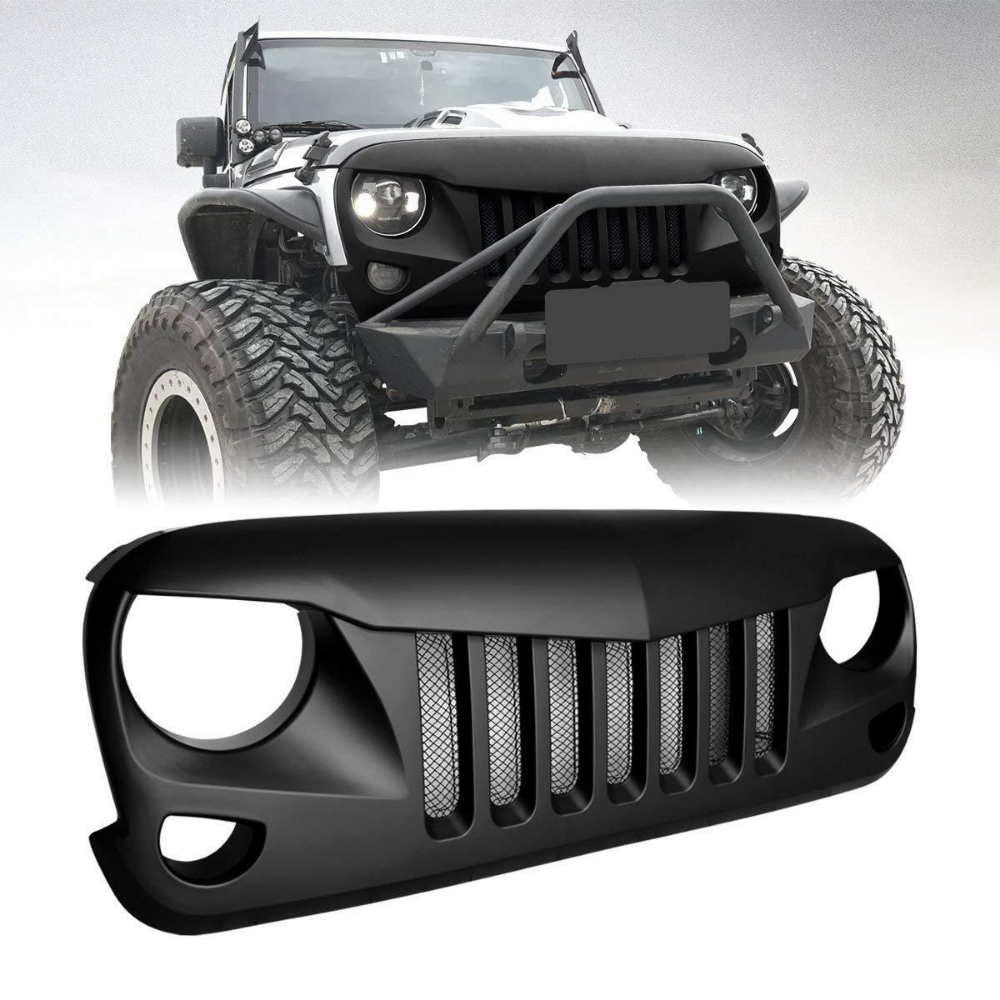Eagle Eye Grille With Built In Mesh For Jeep Wrangler 07 17 Jeep Wrangler Jeep Wrangler Jk Jeep