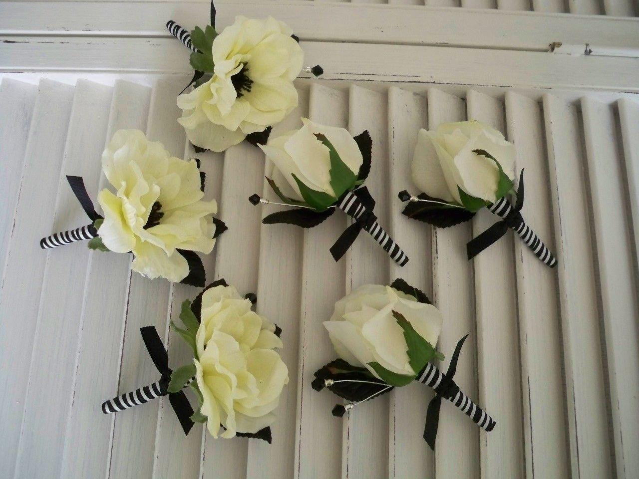 Nautical Wedding Silk Flower Wedding Set-French Cream/White Silk ...