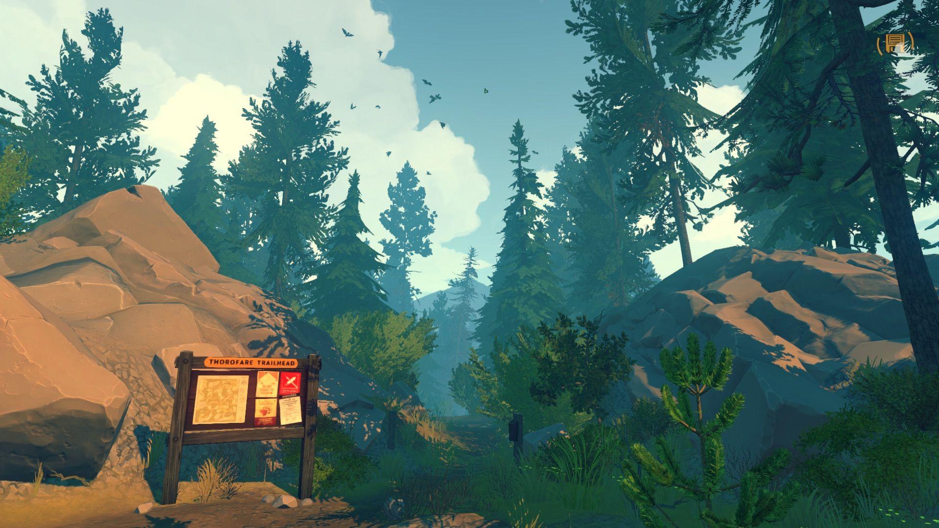 Firewatch — Pyromance Firewatch, Night in the wood