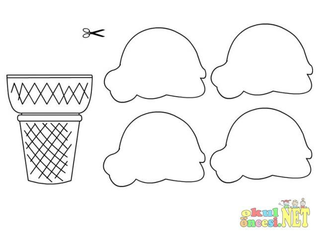 artigianale gelato con template.jpg | Kids crafts | Pinterest | Ice ...