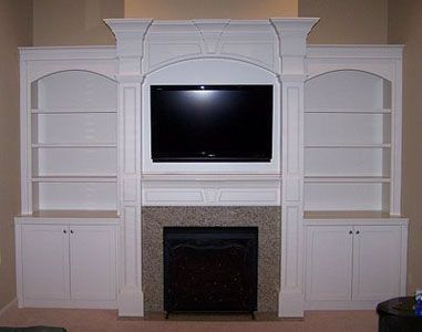 built entertainment in unit wall fireplace mantels | fireplace