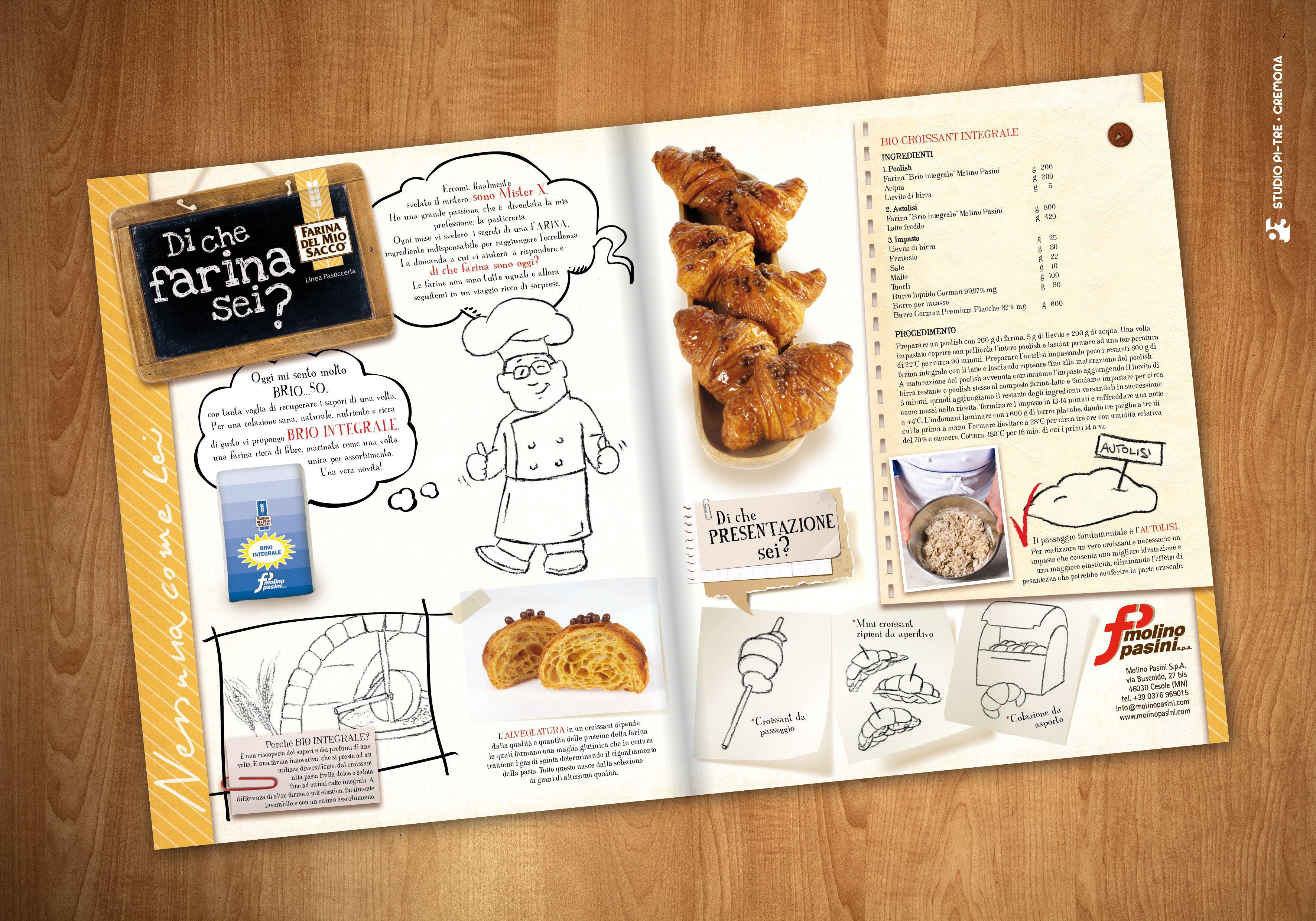 """Pubbliredazionale """"Di che farina sei?"""" - Cooking with flour advertorial © Studio Pi Tre (Cremona - Italy)"""