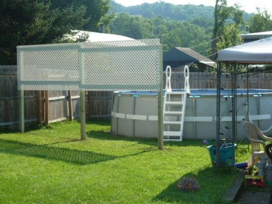 privacy screen for backyard pool project showcase diy chatroom - Above Ground Pool Privacy Screen