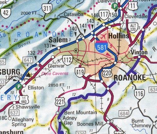 Roanoke Hotel Va County Map Virginia Hotels Motels Vacation