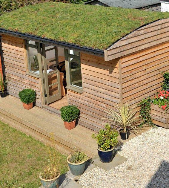 Garden Rooms Outdoor Offices My Home Rocks Green Roof Grass Roof Garden Room