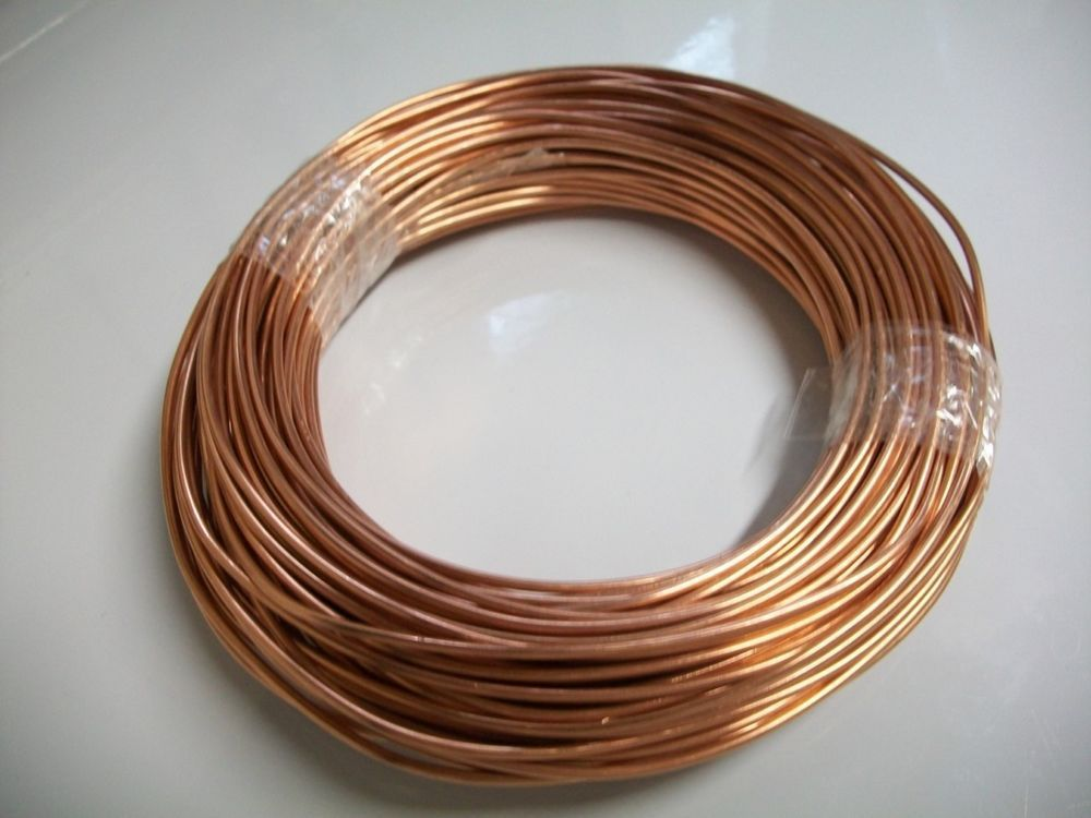 100 FEET BARE BRIGHT #12 solid COPPER WIRE CRAFTS JEWELRY MATERIAL ...