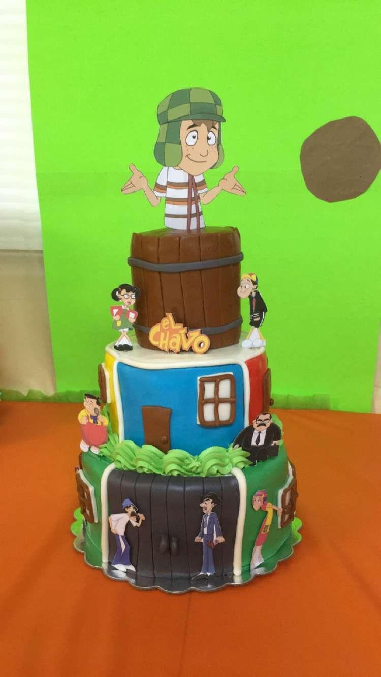 Cake ideas on pinterest pirate cakes marshmallow fondant and - Theme Cake El Chavo Del Ocho Made Out Of Marshmallow Fondant