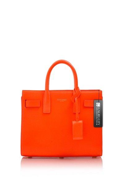 ac9ae0f278c Yves Saint Laurent- Baby Sac De Jour Bag Neon Orange #YSL #Handbags ...