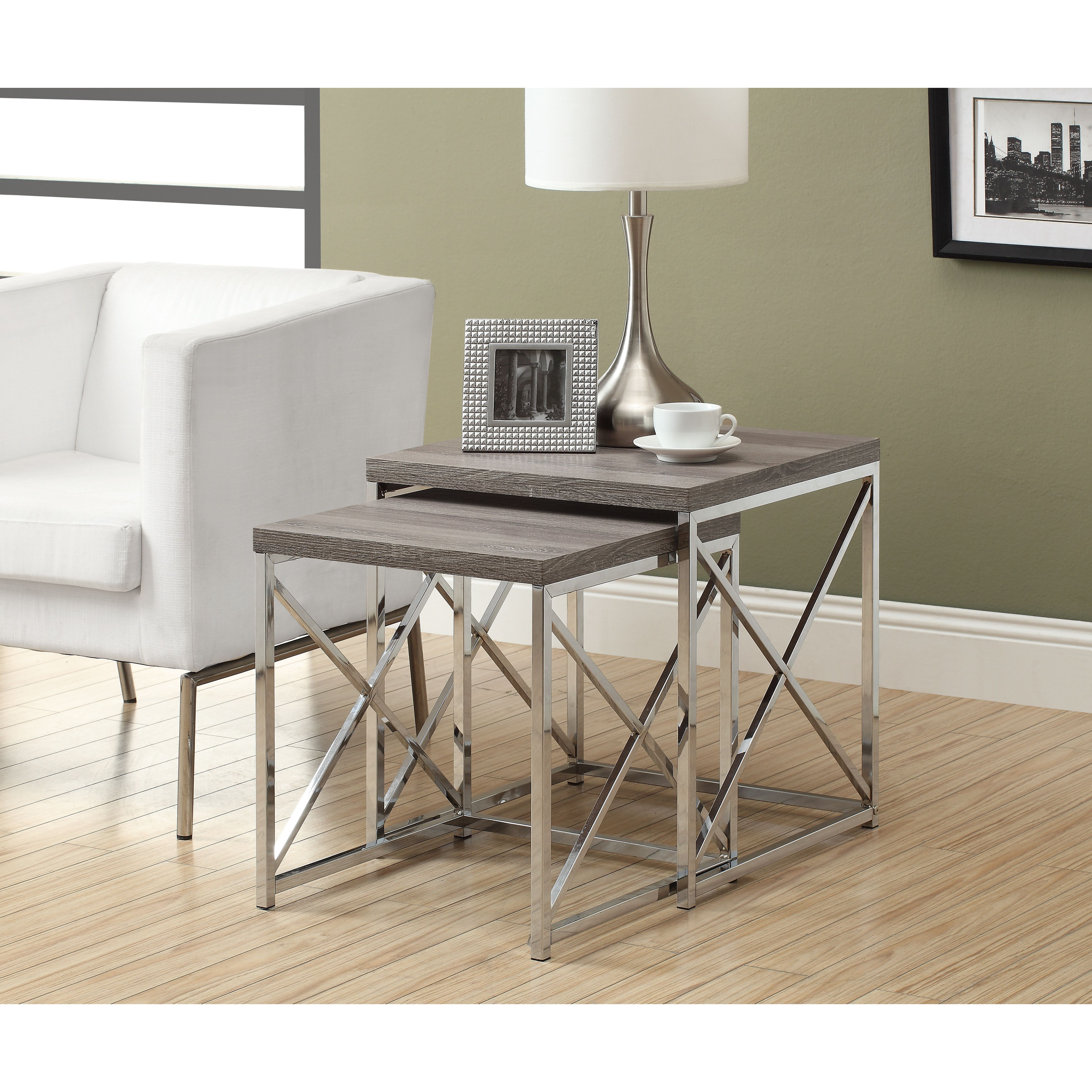 you ll love the oliver 2 piece nesting table set at wayfair great