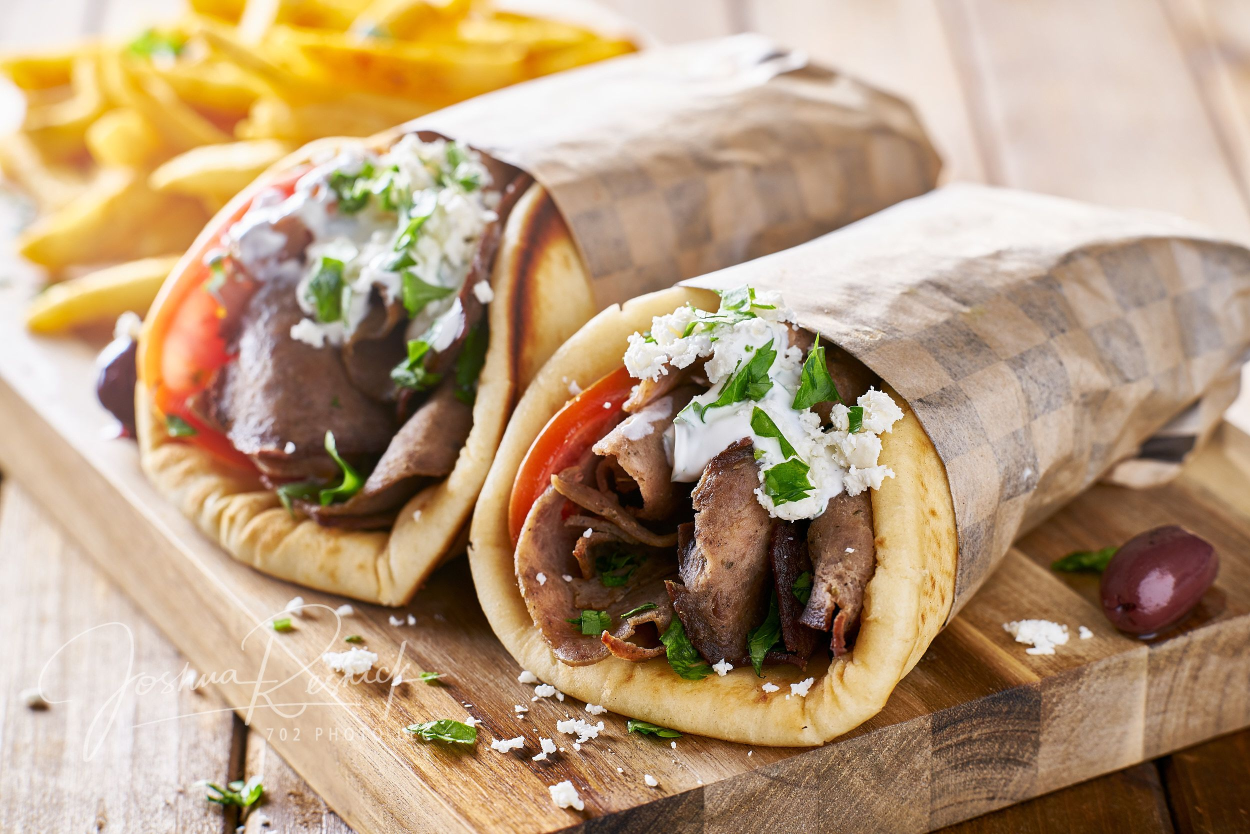 greek lamb meat gyros with tzatziki sauce feta cheese and french fries lamb gyros healthy dinner recipes easy greek recipes greek lamb meat gyros with tzatziki