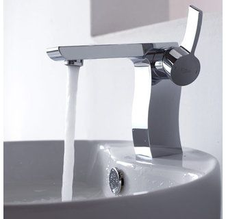 Kraus KEF-14601 Chrome Single Lever Basin Faucet and Pop Up Drain