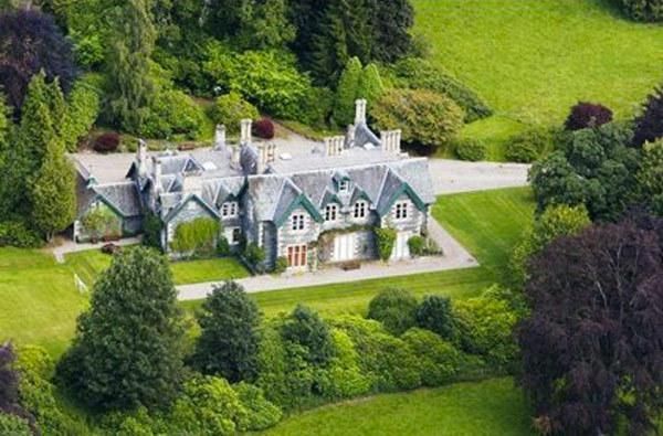 J.K. Rowling's home in Perthshire, Scotland. She also owns a villa in Edinburgh and a house in Kensington, England