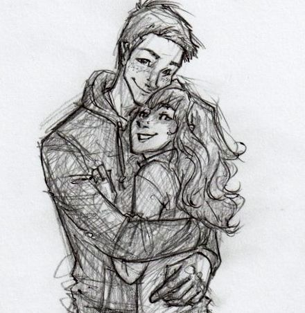 Hugging Couple Drawing boy hair draw - Google...