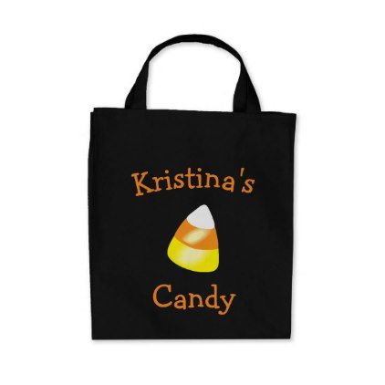 Halloween Candy Corn Tote Bag Trick or Treat - kids kid child gift - halloween candy treat ideas