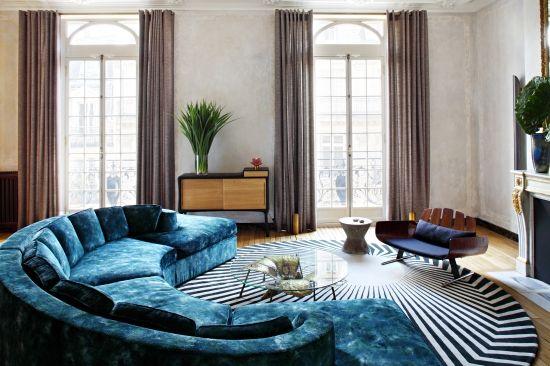 Jean Goujons apartment in Paris has a mid-century modern approach [500 x 366]