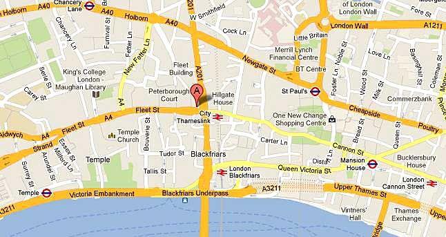 cool fleet street map london