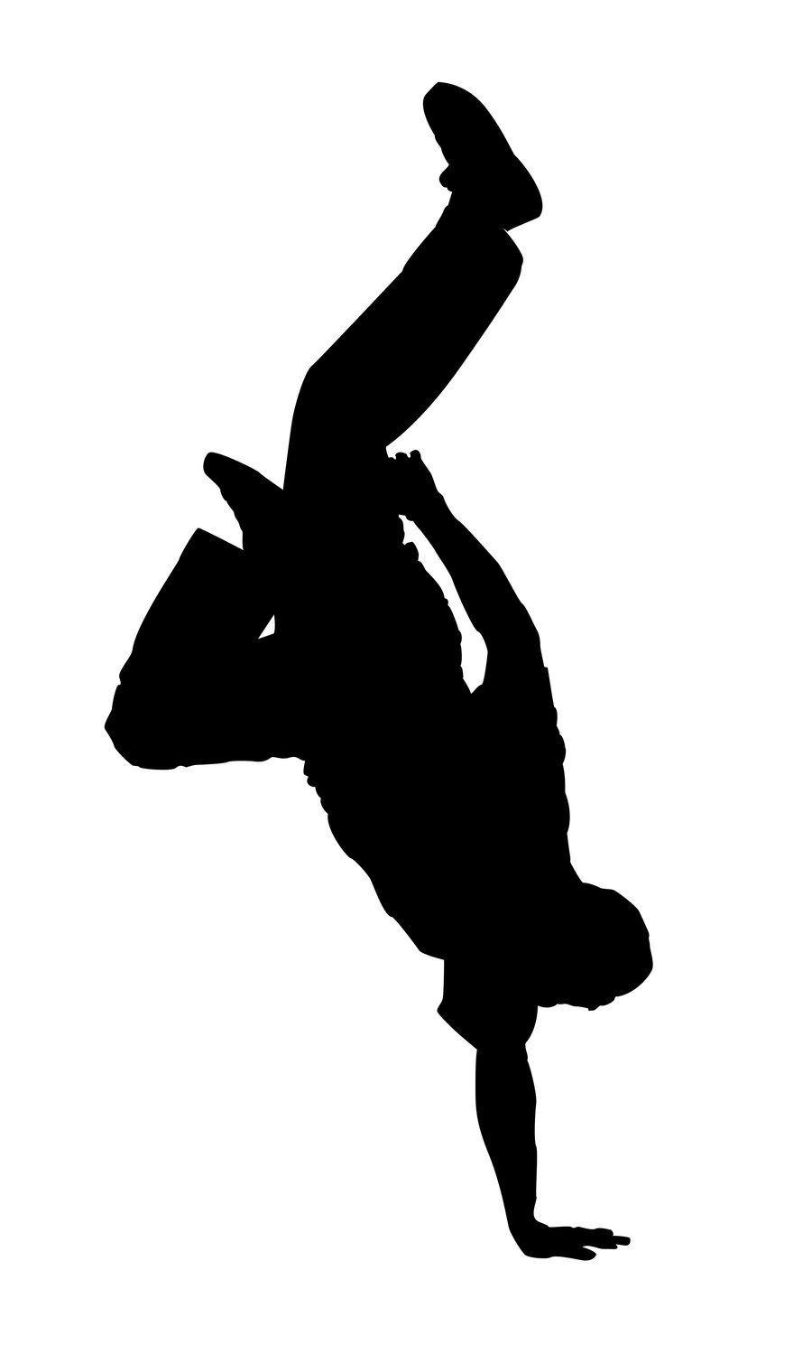 Break Dancer Silhouette 3 by ~kkplum on deviantART | Party ...