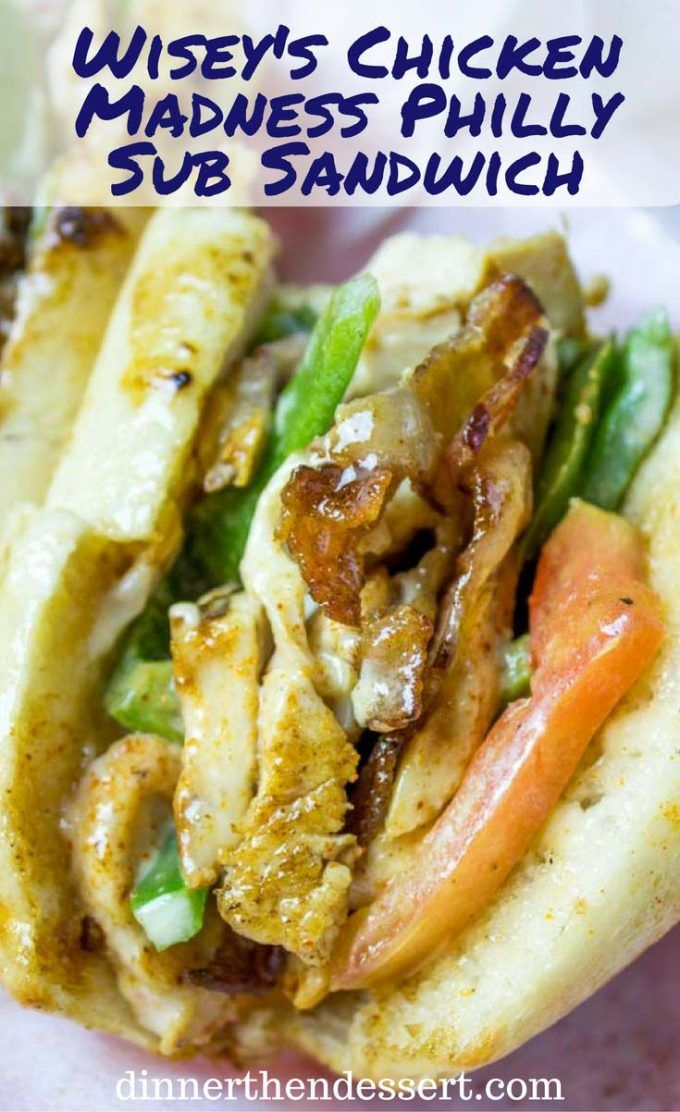 Chicken Madness Philly Sub Sandwiches Are A Georgetown University Tradition And An Amazing Alterna Sub Sandwiches Healthy Snacks Recipes Meat Recipes