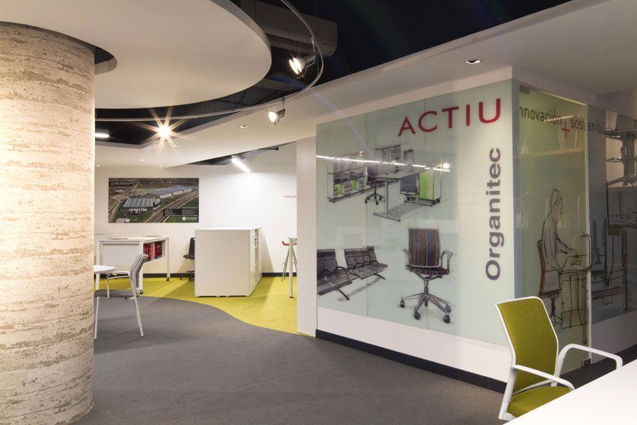 actiu office furniture. actiu opens a new showroom in mexico df with its distributor organitec office furniture