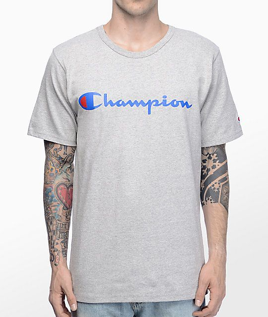 6c893c461c T-shirt do cinza da urze do roteiro do campeão