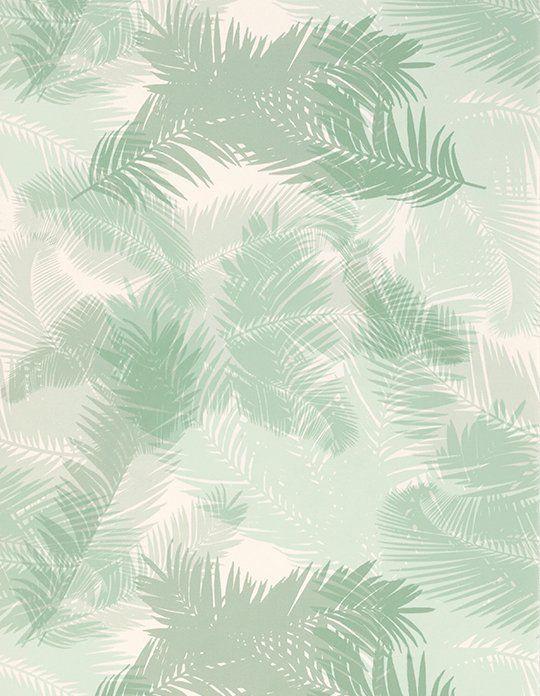 Papier Peint Tropic Vinyle Sur Intiss Motif Tropical Vert DEau