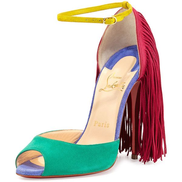Christian Louboutin Otrot Suede Sandal With Fringe €1,025 Fall 2014 #CL #Louboutins #Shoes