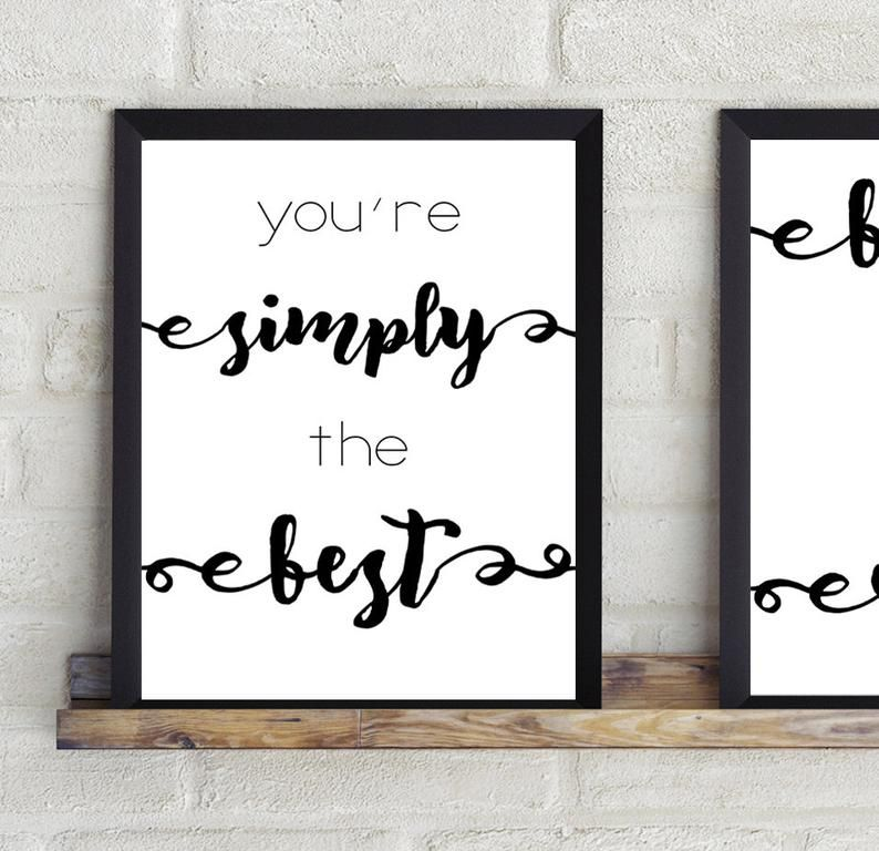 Simply The Best Sign Better Than All The Rest Sign Digital Etsy In 2021 Print Novelty Sign Signs