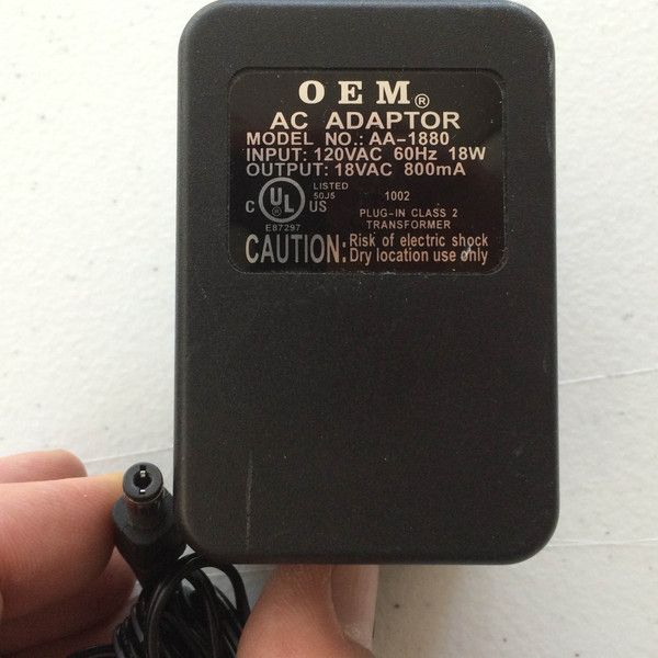 Model No Aa 1880 Output 18vac 800ma 18v 800ma Power Supply Ac Dc Adapter Wall Wart Power Power Supply Acdc