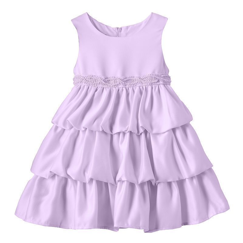 1413ea62 Baby Girl Princess Faith Sleeveless Tiered Dress, Size: 24 Months, Lt Purple