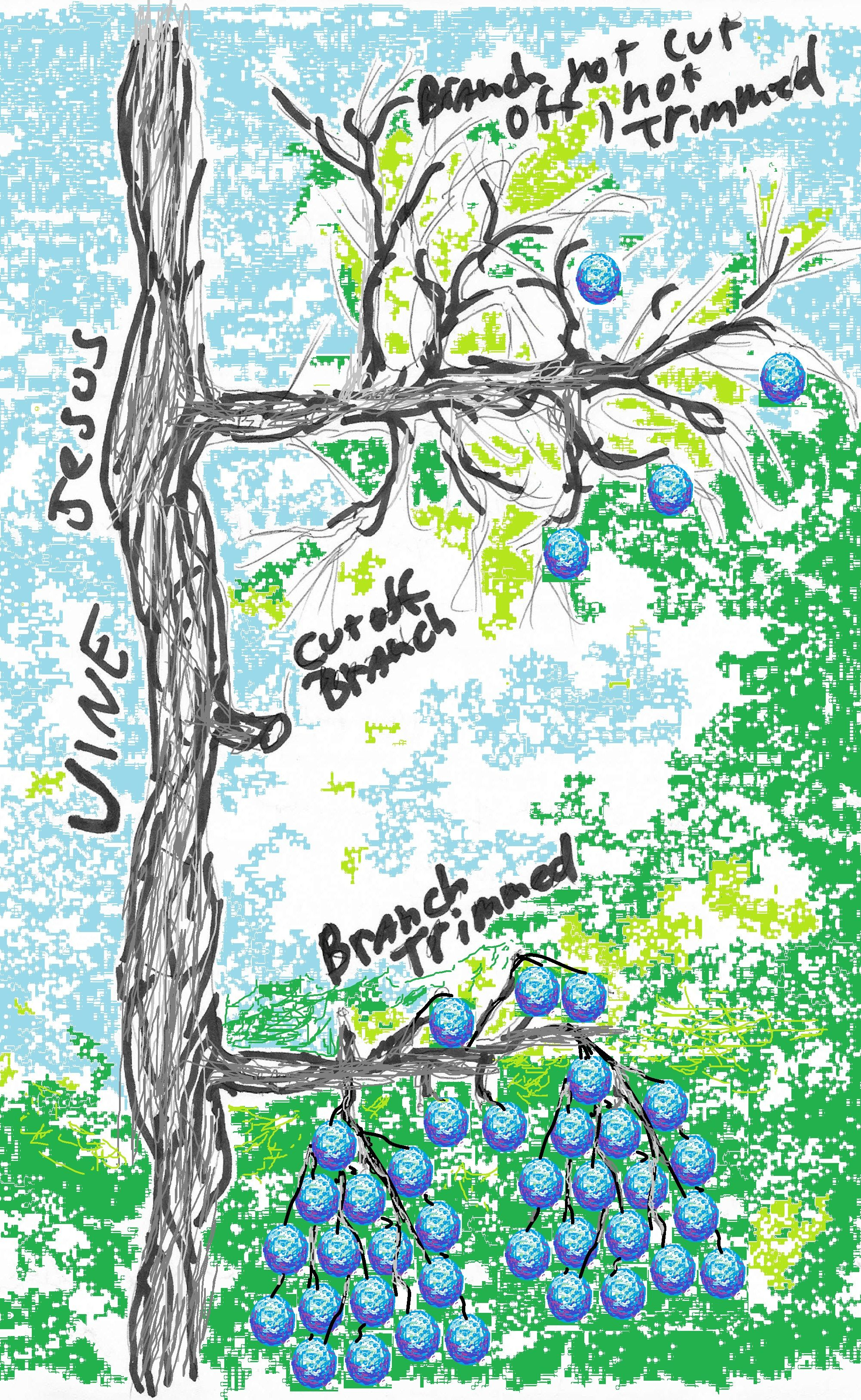 We are the branches jesus is the true vine my walk for Vine craft ideas