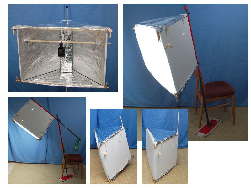 a DIY softbox, reflector and lightbox 3 in 12