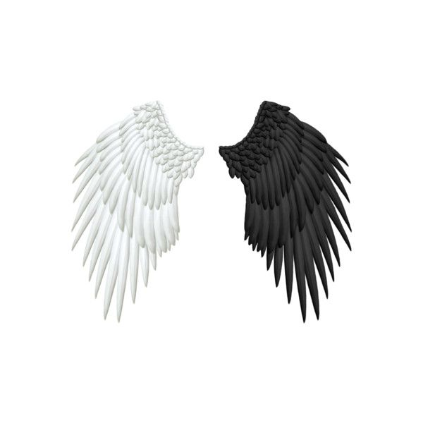 Psd Detail Wings Black White Official Psds Wings Png Angel Wings Png Angel Wings Tattoo On Back