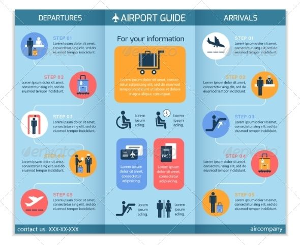 Airport Business Infographic Brochure - Infographics Pictures and