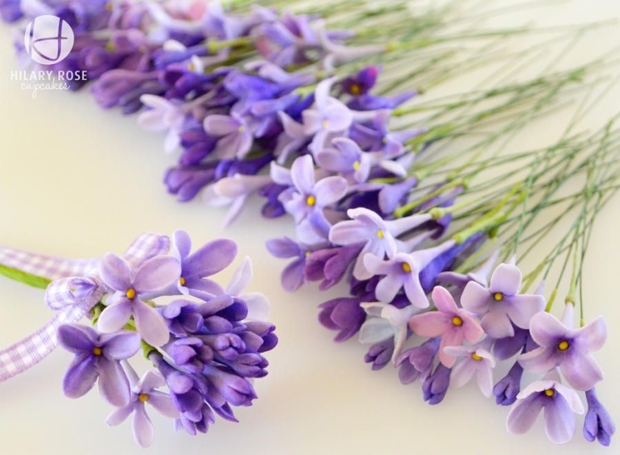 Lilac Cakesdecor Gum Paste Flowers Tutorials Sugar Flowers Tutorial Gum Paste Flowers
