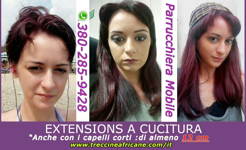 Extension capelli su capelli corti