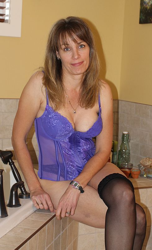 Older ladies in lingerie