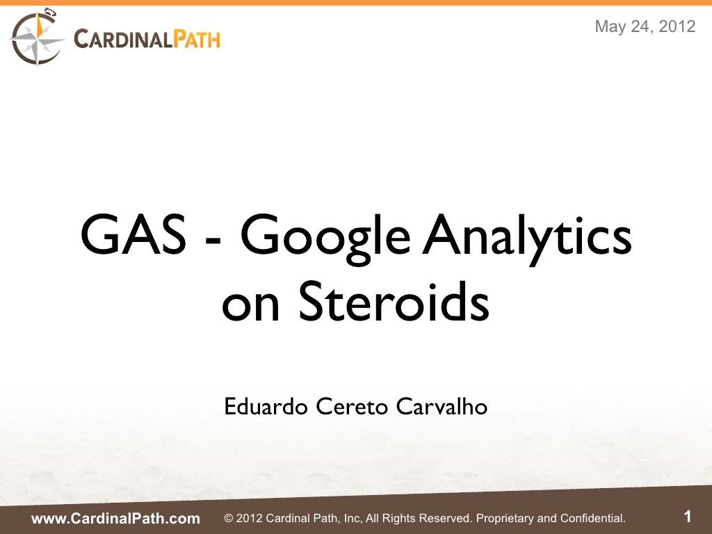 GAS - Google Analytics on Steroids