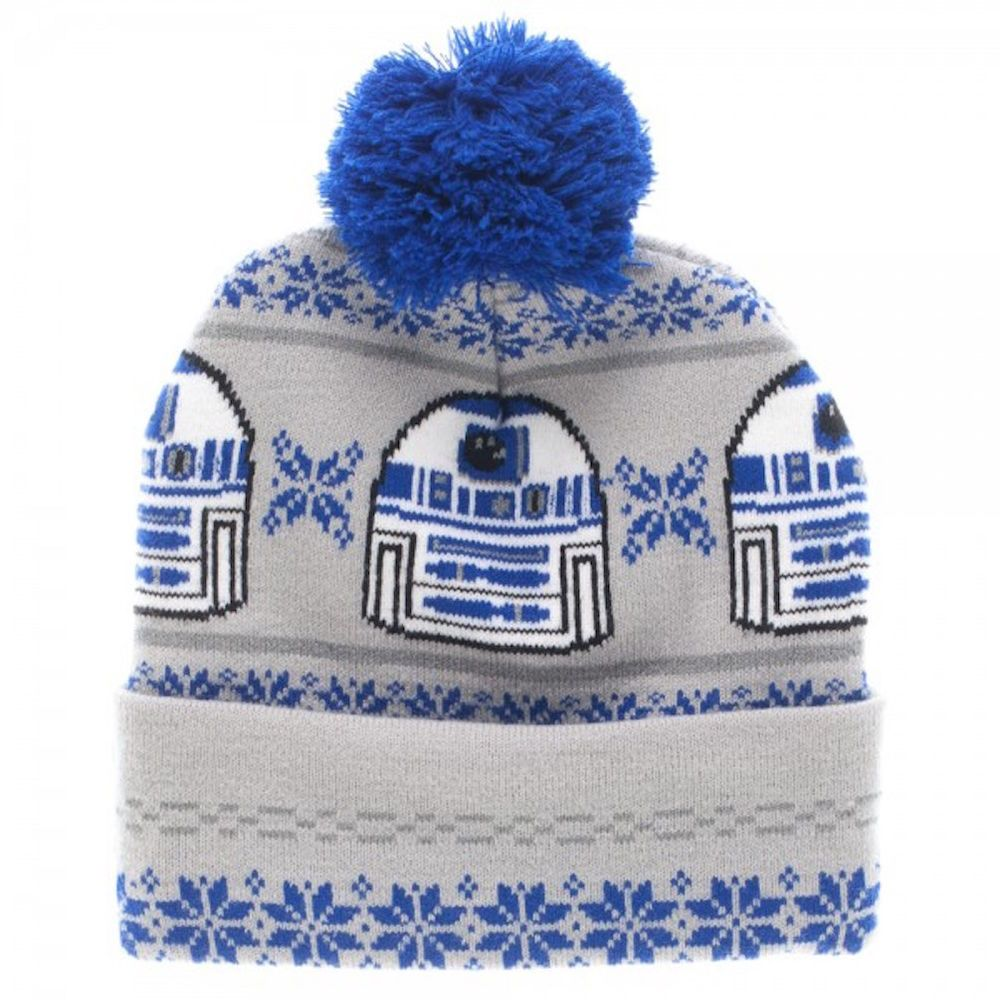 52c6b223dc9 ... discount code for star wars r2d2 fairisle cuff pom knit beanie skull cap  hat disney beanie sweden amazon ...