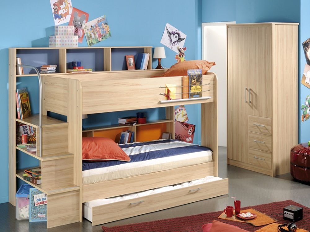 Parisot Bibop Storage Bunk Bed & Guest Bed | Kids Bunk Beds from FADS