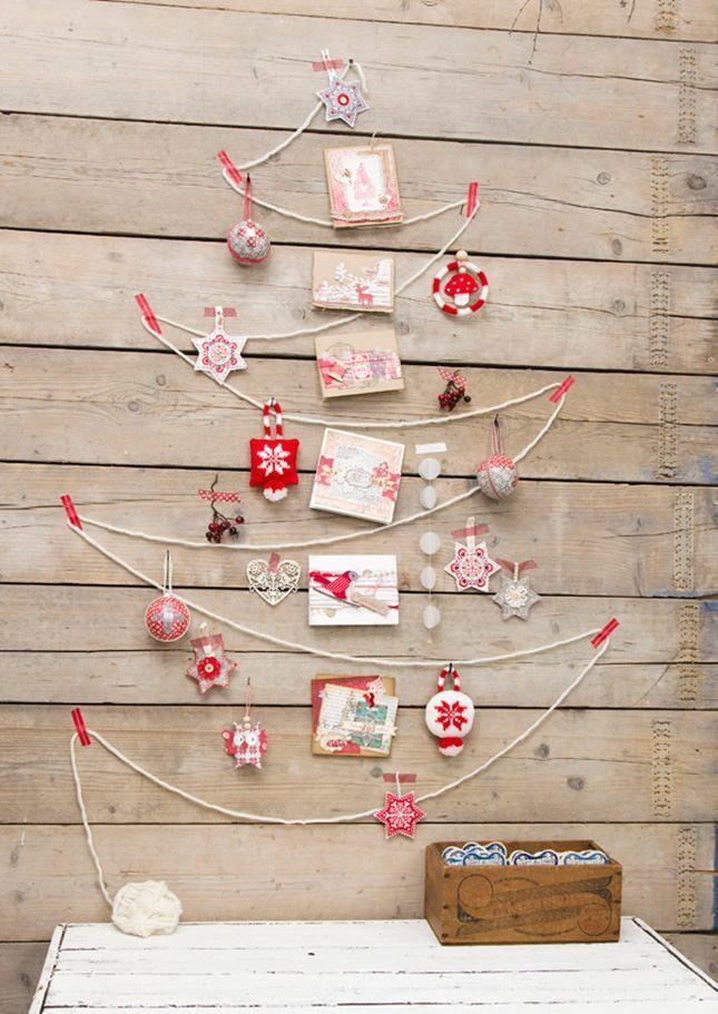 Idees Decoration Murale Pour Noel Avec Sapins Et Etoiles Christmas