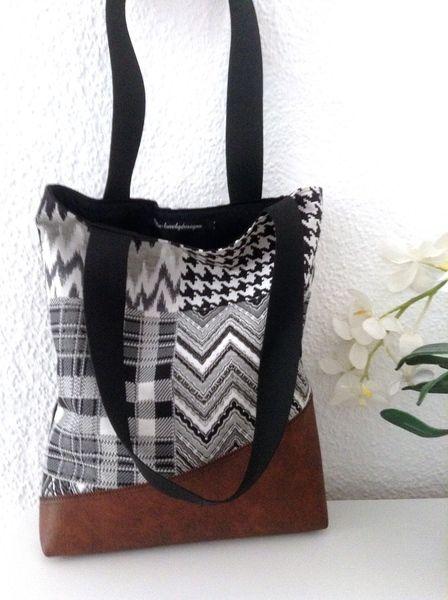 """Tasche """"Patchwork"""" braunes Leder von Pia-lovelydesigns auf DaWanda.com"""
