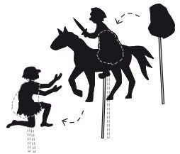 Schattenspiel - Sankt Martin PDF #sanktmartinbasteln
