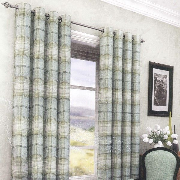 Argyll Duck Egg Ready Made Eyelet Curtains | Harry Corry Limited
