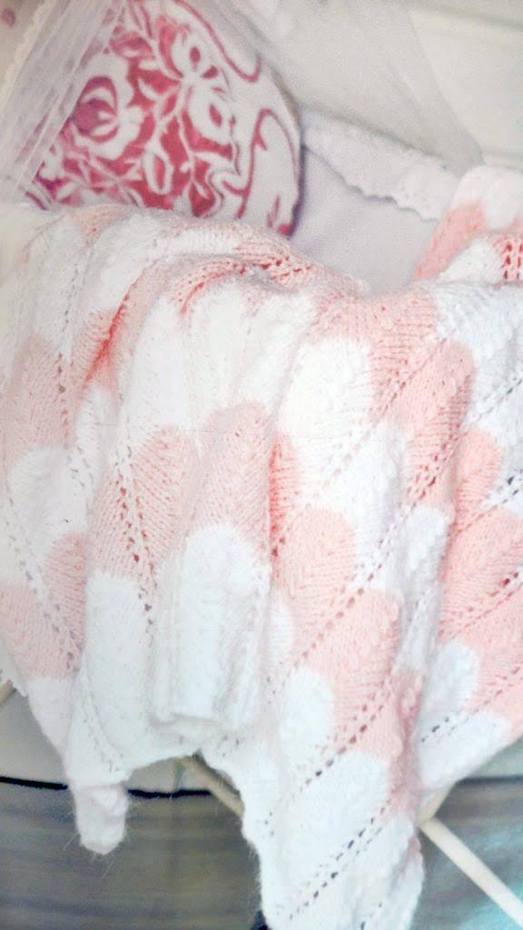 Manta-bebe-zig-zag-a-dos-agujas-pink | Tejidos | Pinterest