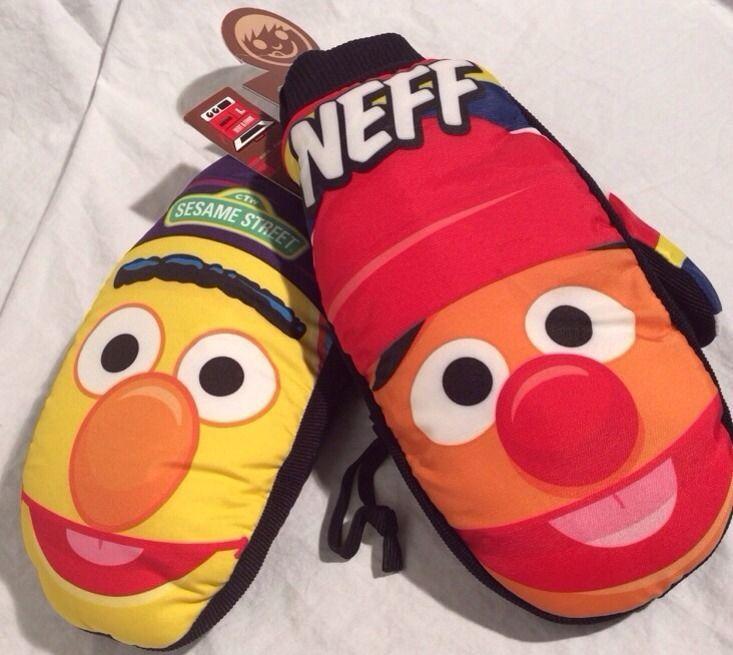 New Neff Adult Mens Burt Ernie Snowboard Character Mitten Retired Sesame Street