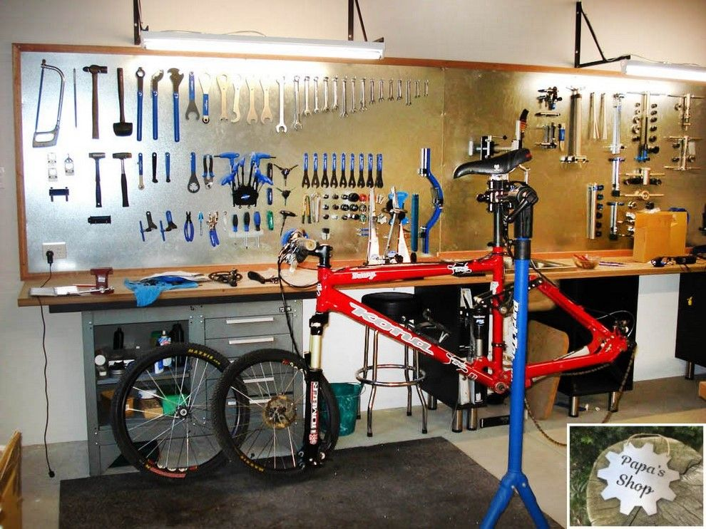 How to Create Your Own Garage Workshop | Bike room, Garage ...