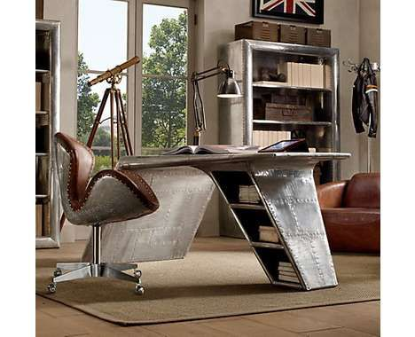 Upcycled aviation desk