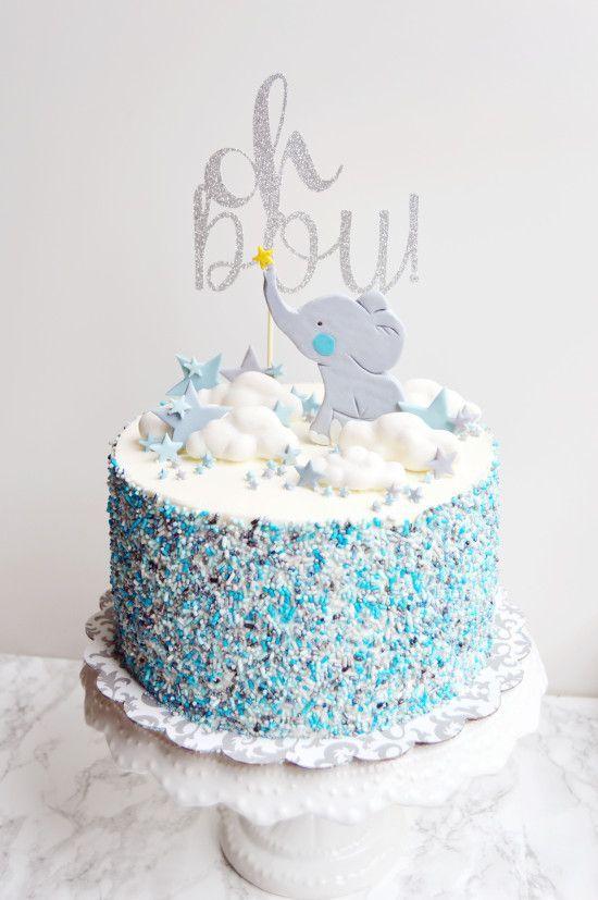 Elefant Baby Boy Kuchen