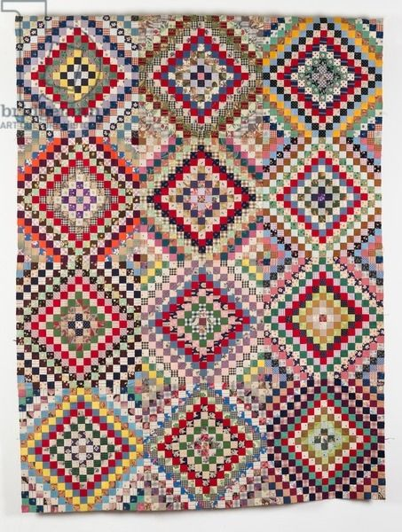 Small squares quilt top, 1930-193, England. Quilt Museum and Gallery, York