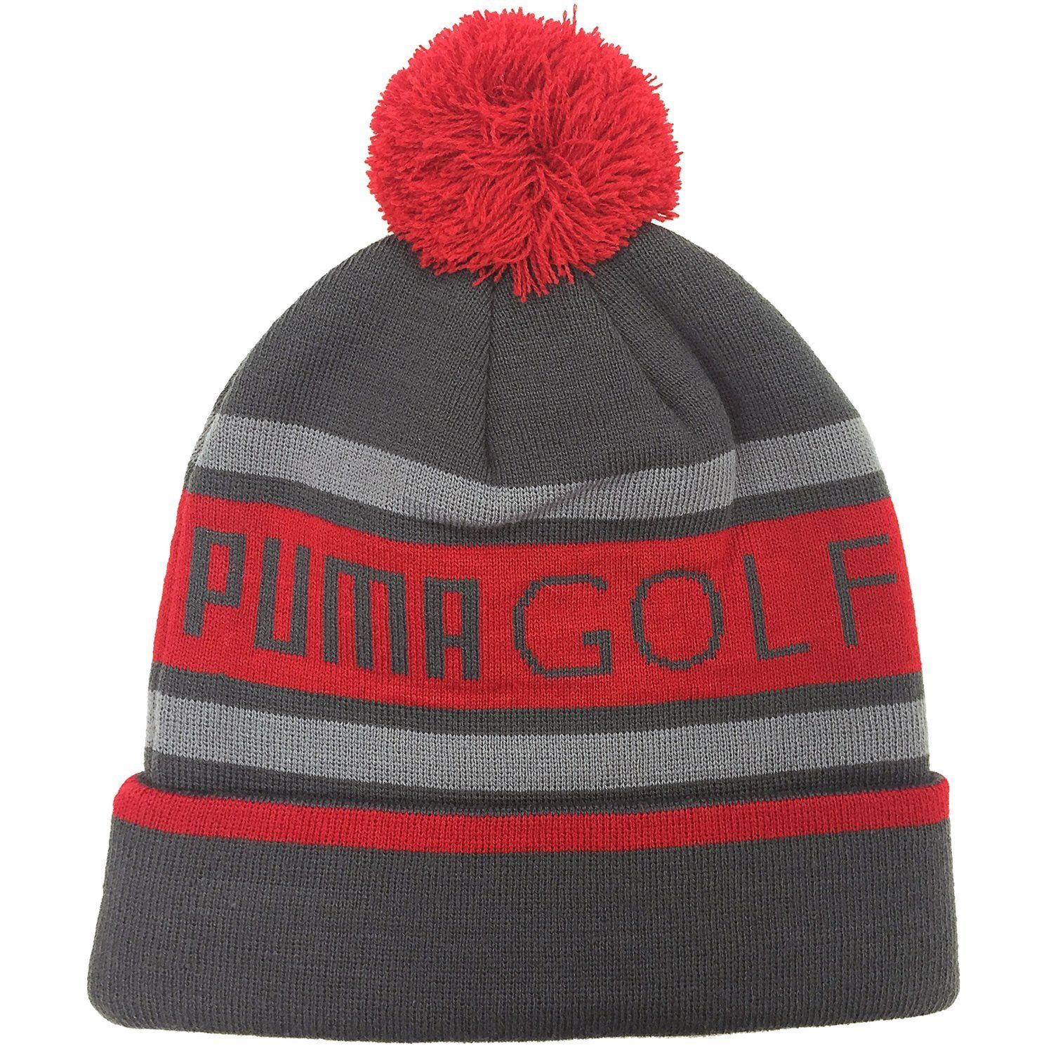 Constructed using warm knit materials thes mens pom golf beanie bobble hats  by Puma will ensure a2eeeafcae2